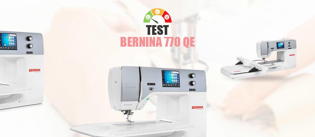 test machine bernina 770 QE